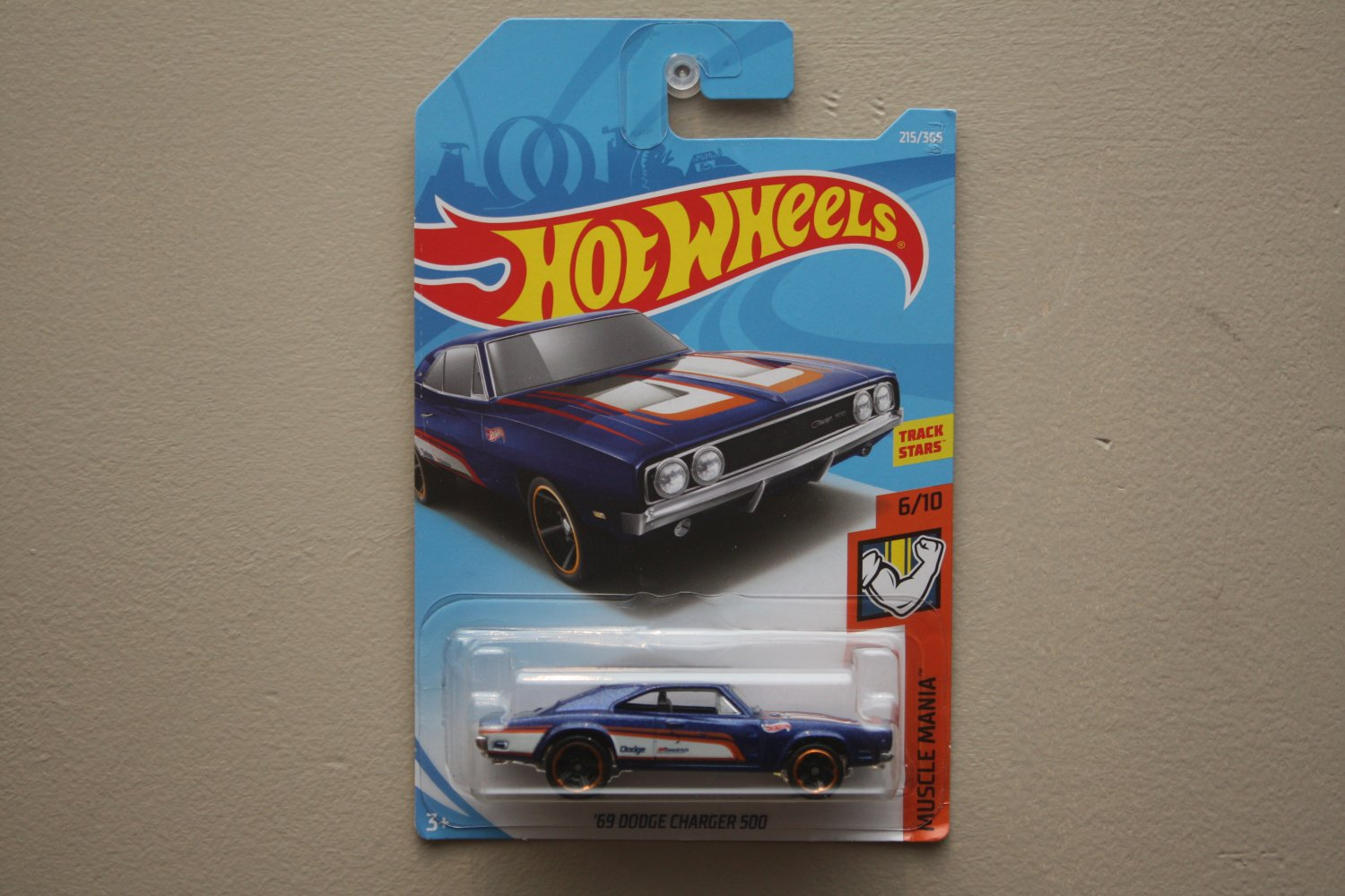 Hot Wheels 2018 Muscle Mania '69 Dodge Charger 500 (blue)