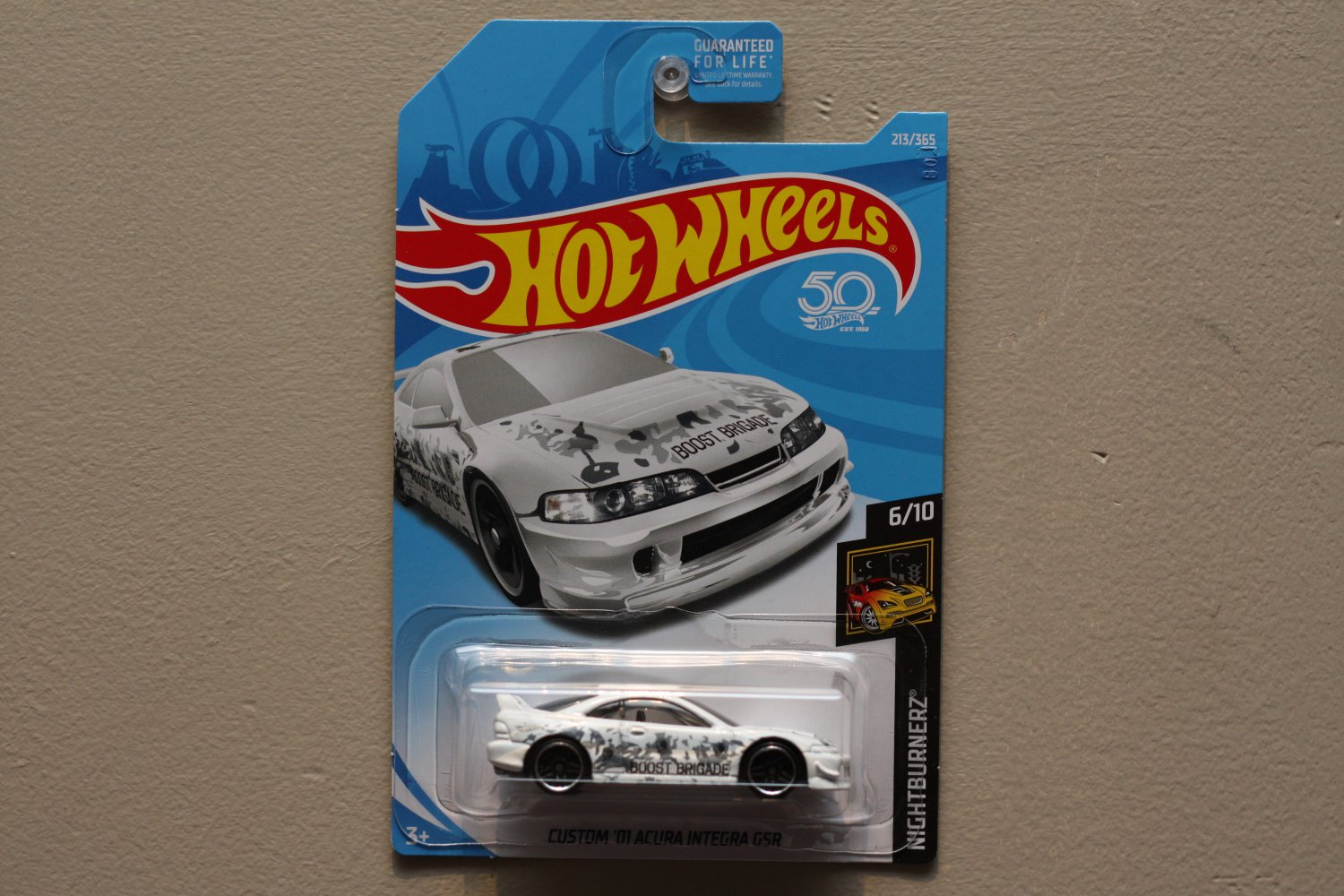 Hot Wheels 2018 Nightburnerz Custom 01 Acura Integra Gsr White Diecast Rally Cars