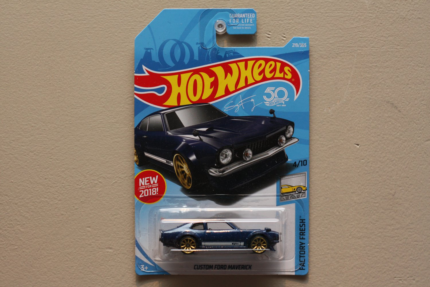 Hot Wheels 2018 Factory Fresh Custom Ford Maverick (blue)