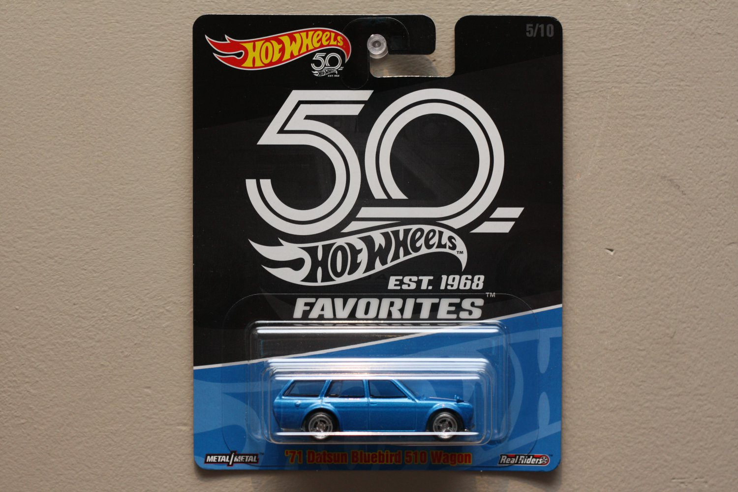 [TAMPO ERROR] Hot Wheels 2018 50th Anniversary Favorites Series '71 Datsun Bluebird 510 Wagon