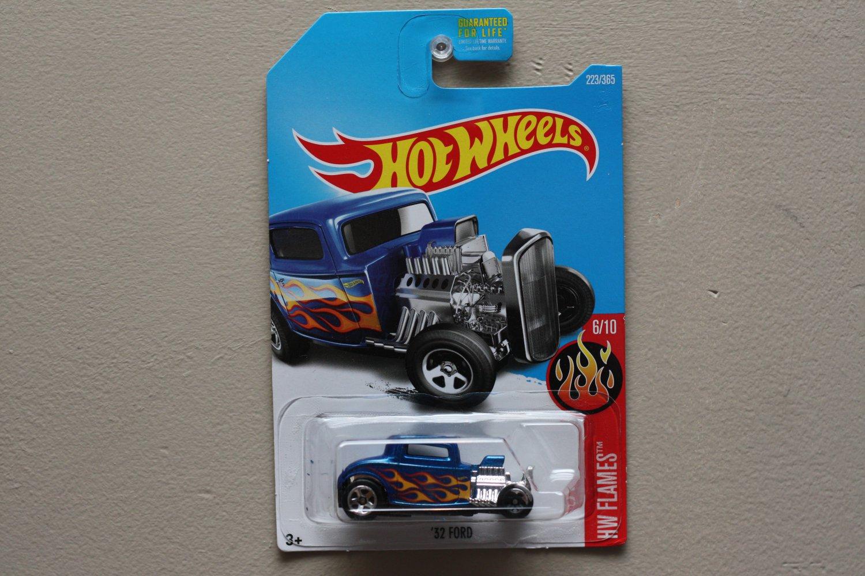 [WHEEL ERROR] Hot Wheels 2017 HW Flames '32 Ford (blue)
