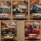 Hot Wheels 2018 Car Culture Shop Trucks (COMPLETE SET) (Chevy, Subaru, Ford, Volkswagen)