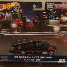 Hot Wheels 2018 Car Culture Team Transport '69 Nissan Skyline C10 Wagon Van & Carry On