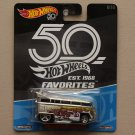Hot Wheels 2018 50th Anniversary Favorites Series Volkswagen T1 Drag Bus
