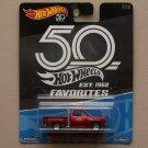 Hot Wheels 2018 50th Anniversary Favorites Series '78 Dodge Li'l Red Express Truck