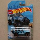 Hot Wheels 2019 Baja Blazers '17 Jeep Wrangler (blue) (SEE CONDITION)