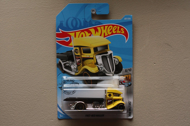 Hot Wheels 2019 HW Metro Fast-Bed Hauler (yellow) (Treasure Hunt)