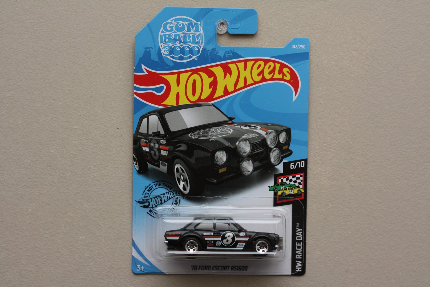 Hot Wheels 2019 HW Race Day '70 Ford Escort RS1600 (black)