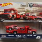 Hot Wheels 2018 Car Culture Team Transport Plymouth Duster Funny Car & Retro Rig (Mongoose)