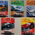 Hot Wheels 2019 Car Culture Silhouettes (COMPLETE SET OF 5 CARS) (Monza, Porsche, Corvette, Skyline)