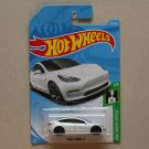 Hot Wheels 2019 HW Green Speed Tesla Model 3 (white) (SEE CONDITION)