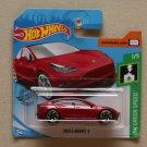 Hot Wheels 2019 HW Green Speed Tesla Model 3 (red)