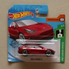Hot Wheels 2019 HW Green Speed Tesla Model 3 (red) (SEE CONDITION)