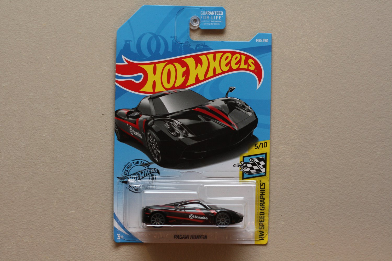 Hot Wheels 2019 HW Speed Graphics Pagani Huayra (black)