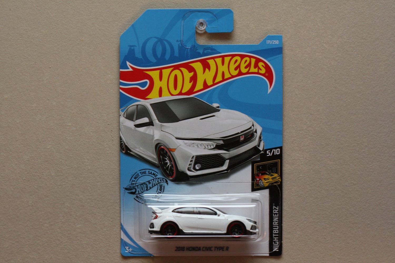 Hot Wheels 2019 Nightburnerz '18 Honda Civic Type R (white)