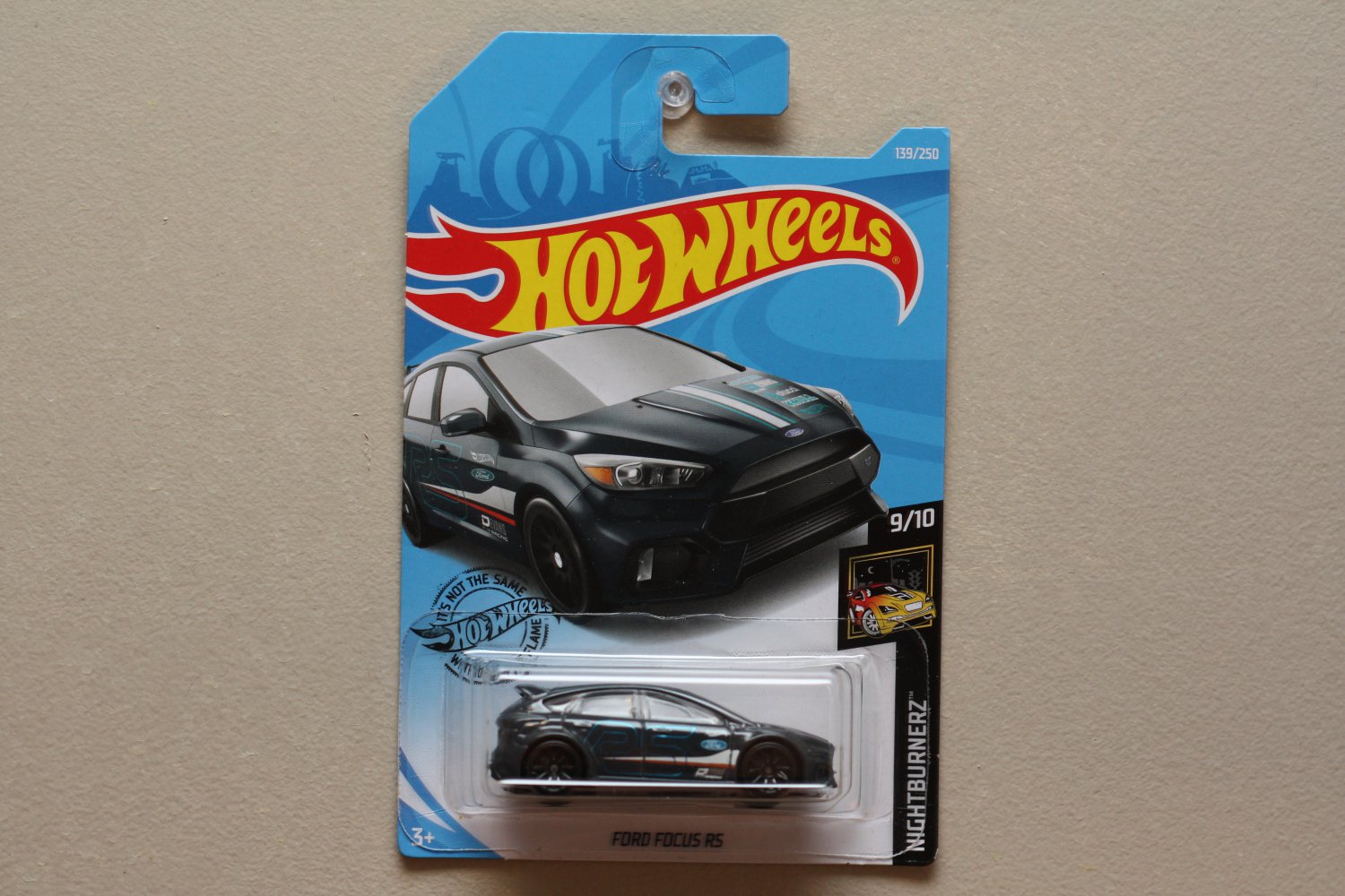 Hot Wheels 2019 Nightburnerz '16 Ford Focus RS (grey)