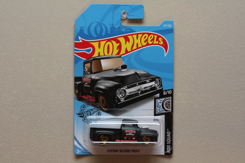 Hot Wheels 2019 Rod Squad Custom '56 Ford Truck (black)