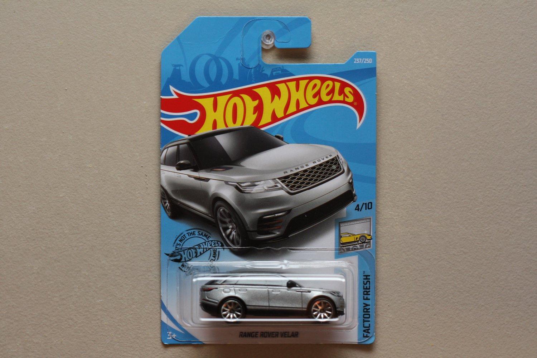 Hot Wheels 2019 Factory Fresh Land Rover Range Rover Velar (silver) (SEE CONDITION)