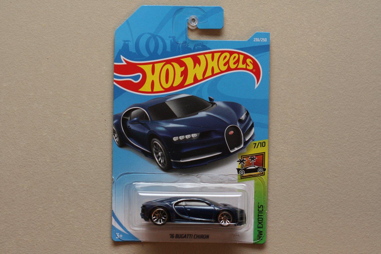 Hot Wheels 2019 HW Exotics '16 Bugatti Chiron (blue)