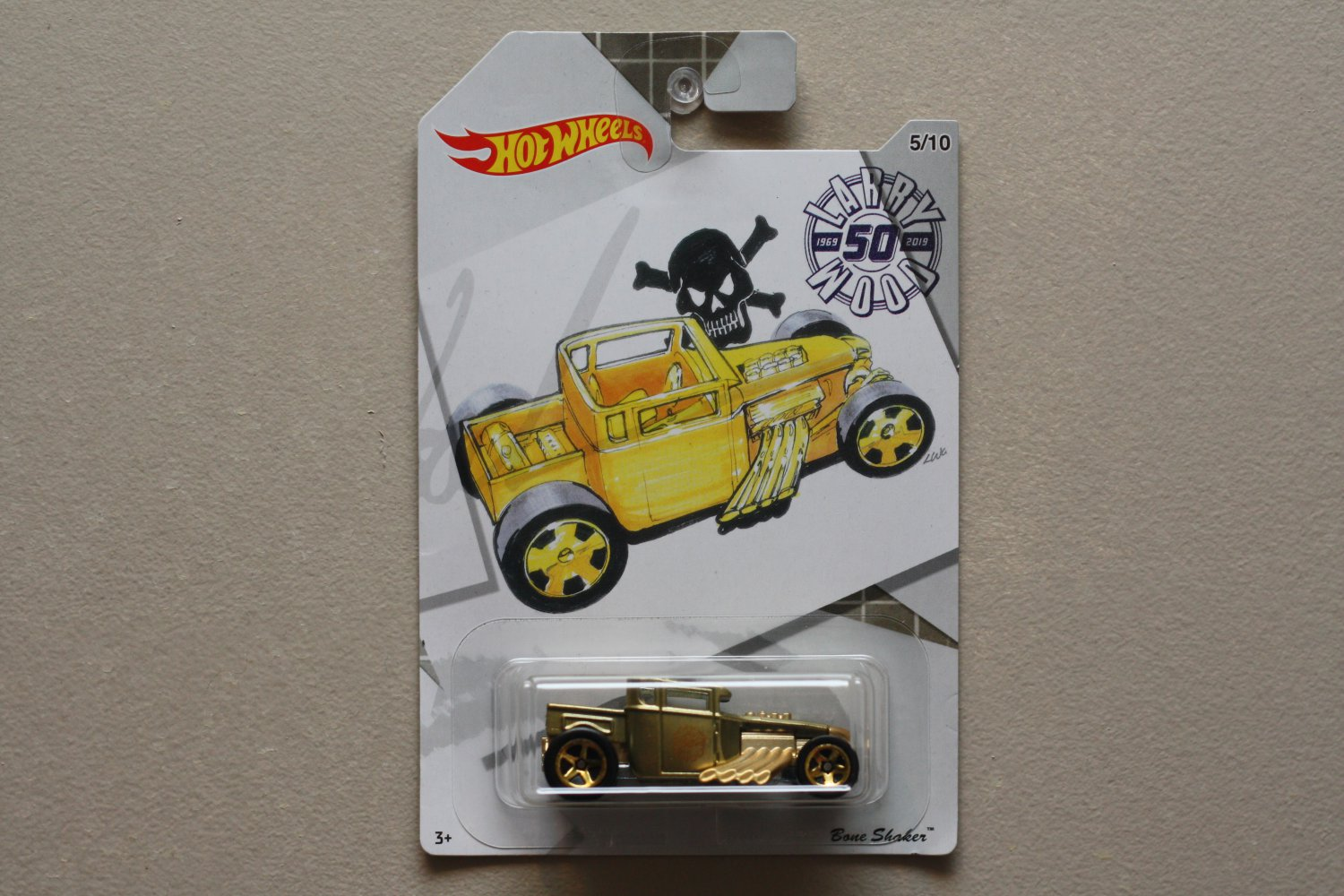 Hot Wheels 2019 Larry Wood 50th Anniversary Series Bone Shaker