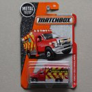 Matchbox 2017 MBX Heroic Rescue Ford F-350 Ambulance (red)