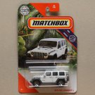 Matchbox 2020 MBX Jungle '18 Jeep Wrangler JL Rubicon (white)