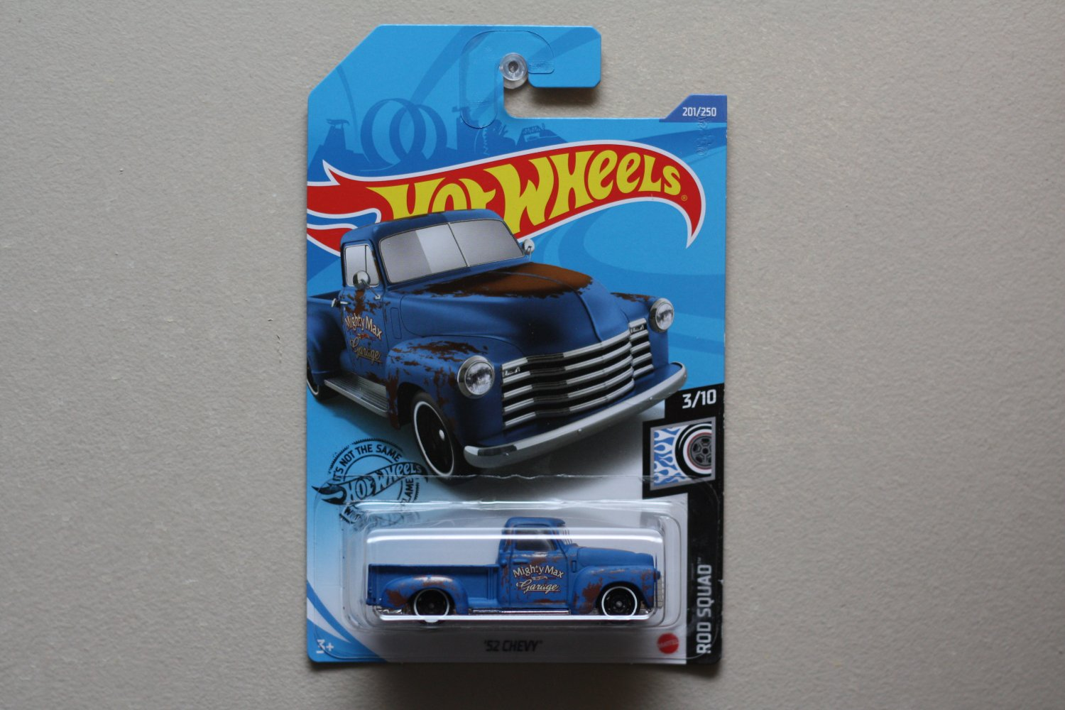 Hot Wheels 2020 Rod Squad '52 Chevy (blue) (SEE CONDITION)