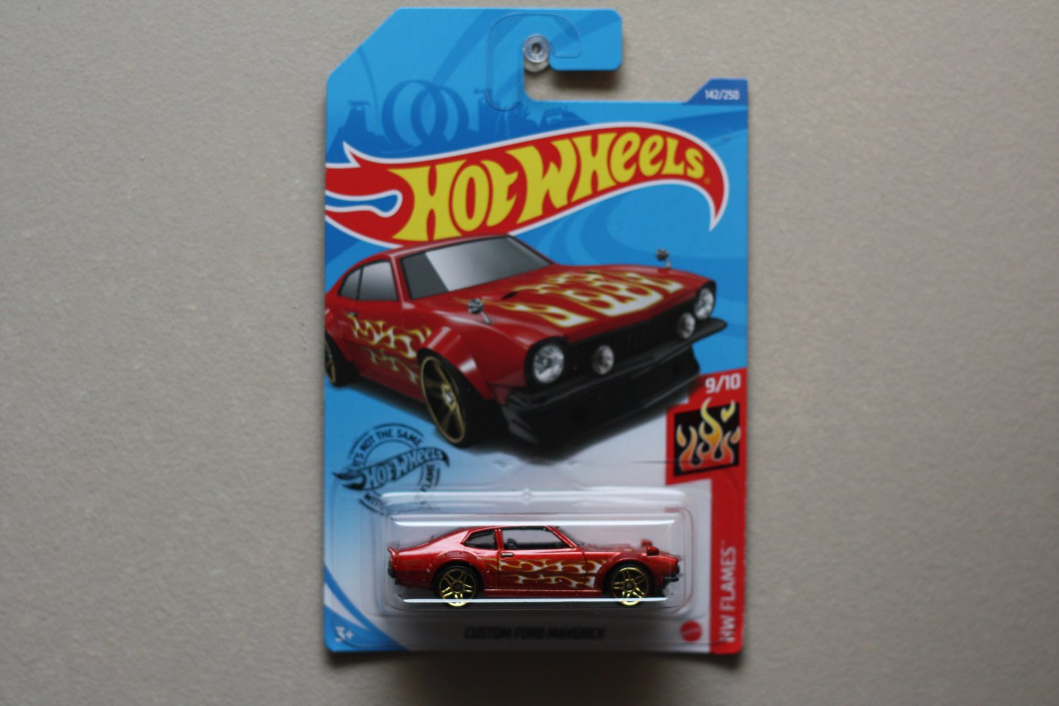 Hot Wheels 2020 HW Flames Custom Ford Maverick (orange)