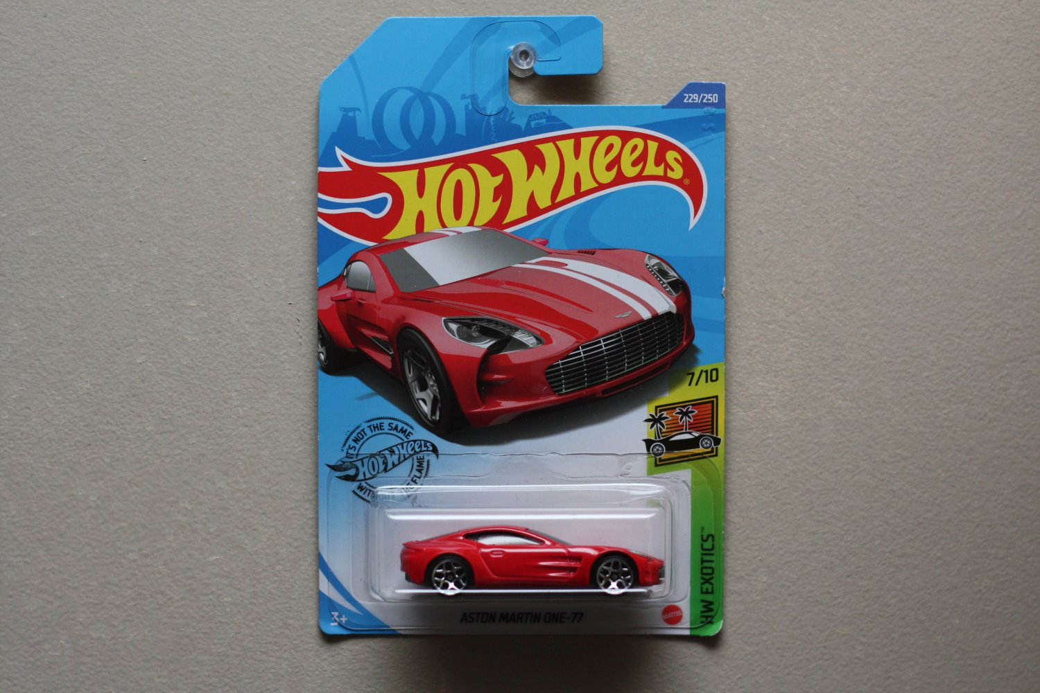Hot Wheels 2020 HW Exotics Aston Martin ONE-77 (red) (SEE CONDITION)