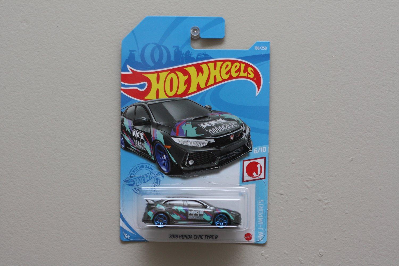 Hot Wheels 2021 HW J-Imports '18 Honda Civic Type R (graphite)