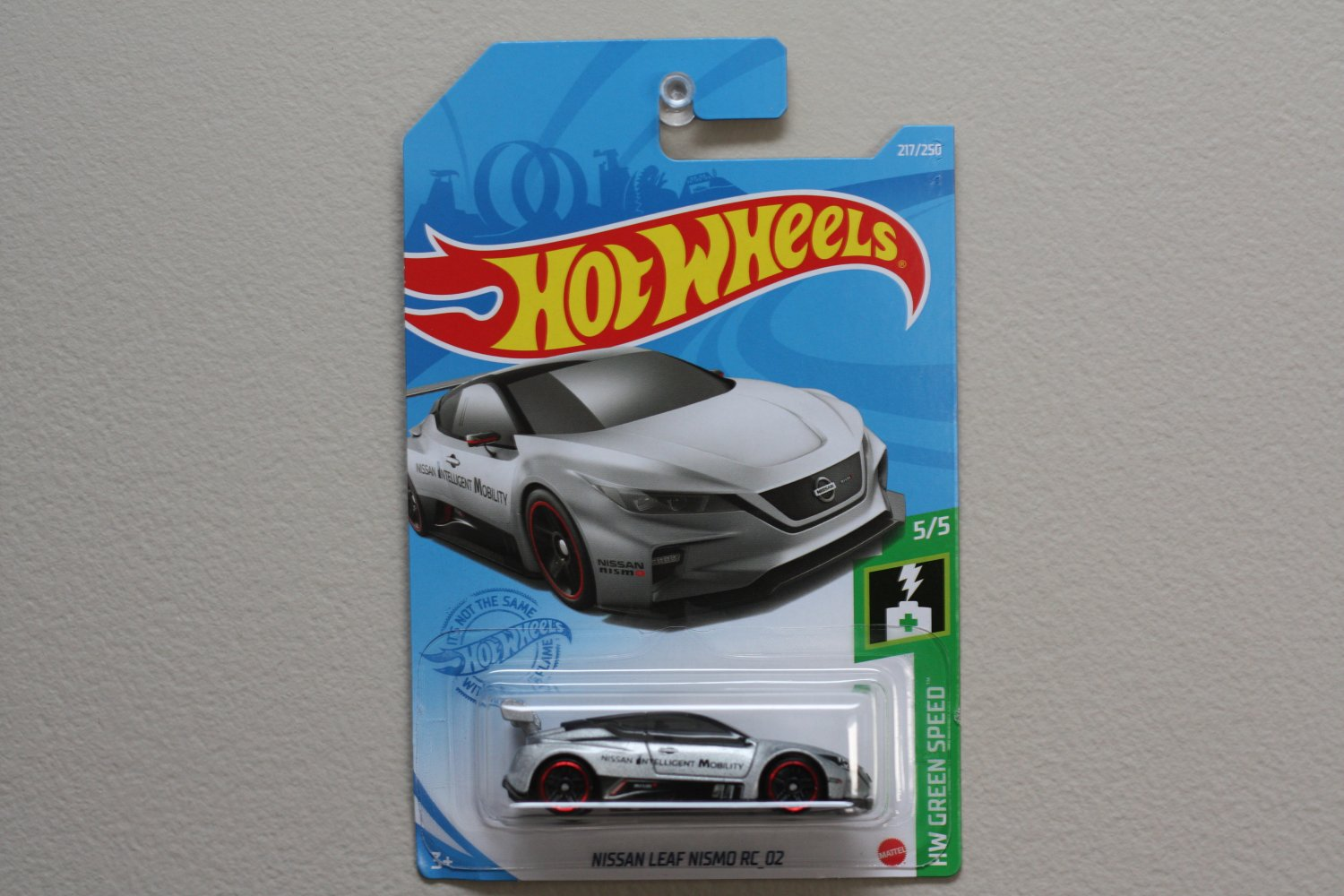Hot Wheels 2021 HW Green Speed Nissan Leaf NISMO RC_02 (silver) (SEE CONDITION)