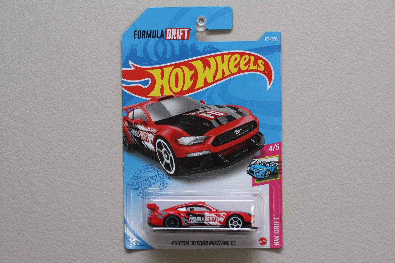 Hot Wheels 2021 HW Drift Custom '18 Ford Mustang GT (red) (Formula Drift)