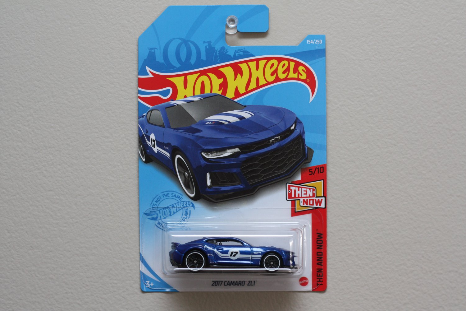 Hot Wheels 2021 Then And Now '17 Camaro ZL1 (blue)