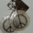 shell peace earrings