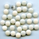 34 nurse uniform buttons vintage white plastic buttons