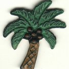 Coconut tree button enameled  metal modern button