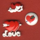 Valentine day buttons plastic buttons