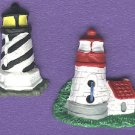 Lighthouse buttons realistic plastic buttons