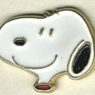 Snoopy head button handpainted enameled brass peanuts cartoon character button
