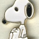 Snoopy full body button handpainted enameled brass peanuts cartoon character button