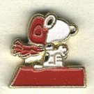 Snoopy as the Flying Ace button handpainted enameled  brass peanuts cartoon character  BUTTON