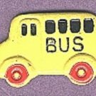Bus button realistic hand painted enameled brass button