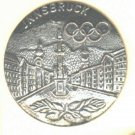 Innsbruck button Olympic winter games vintage button