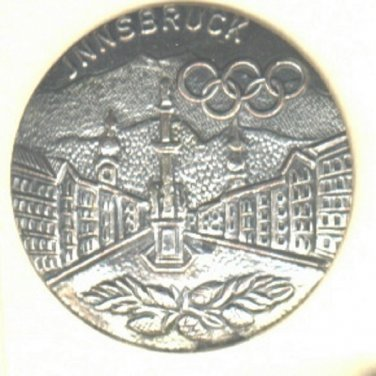 Innsbruck button Olympic winter games vintage button