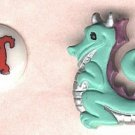 Fun  dragon buttons