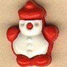 Penguin snowman? button..realistic modern snap-together, red and white plastic button