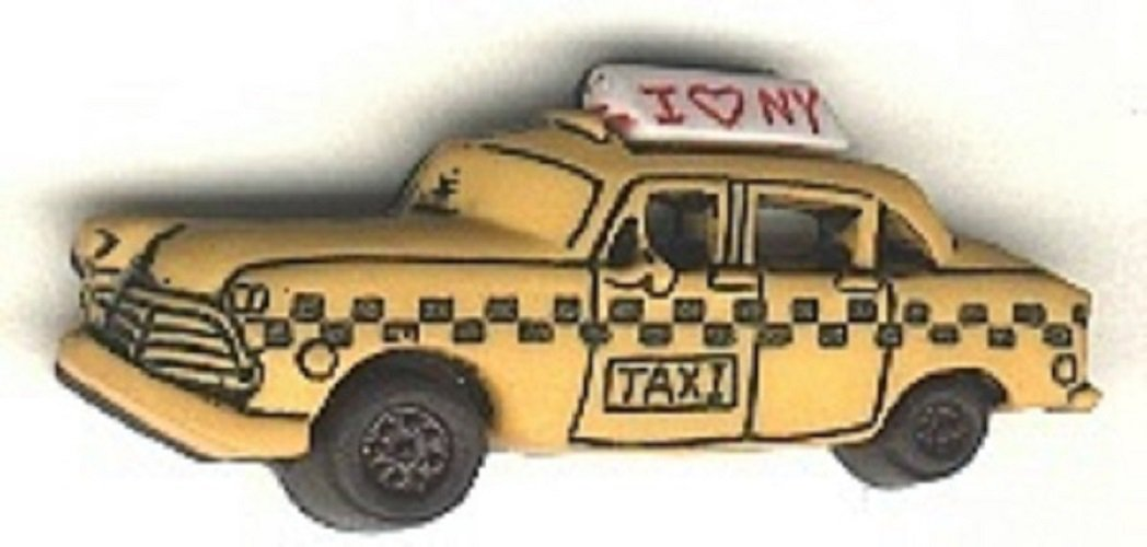 Taxi button realistic modern snap-together plastic no shank involvement