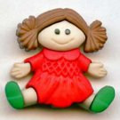 Christmas Toy Doll button realistic modern snap-together plastic button