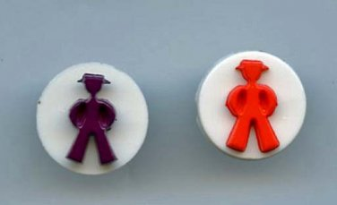 2 men buttons snap together plastic buttons