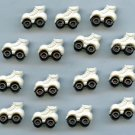 15 Realistic Roller Skate buttons modern plastic snap-together buttons